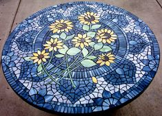 sunflower patterns | SITO Artchive: 'Sunflowers...Out of the Blue' by Kristina Brennan