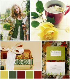 Simply Hue: Guest Post: Red, Green & Yellow Mood Board