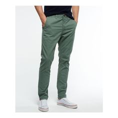 Shop smart mens trousers from the official online Superdry store. Casual chinos, suit trousers and more, all with free delivery. Find your new smart trousers now. Mens Chino Pants, Cargo Pants Men, Mens Trousers Casual, Men's Pants, Casual Pants, Green Chinos Men, Green Pants Men, Summer Outfits Men, Men Summer