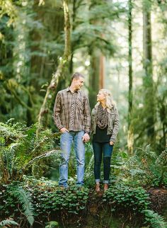 Natural and breathtaking engagement shoot in the Redwoods