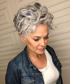 50 Best Short Haircuts and Top Short Hair Ideas for 2020 Hair Adviser Short Curly Hair Adviser hair Haircuts Ideas short Top Grey Curly Hair, Short Hair Updo, Curly Hair Cuts, Curly Hair Styles, Gray Hair Short Cuts, Curly Short Hair Cuts For Women, Short Short Hair, Fixing Short Hair, Short Curly Pixie