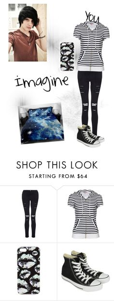 """""""Imagine laying in bed with this hottie"""" by pj-is-gay ❤ liked on Polyvore featuring Frame Denim, Juicy Couture, Markus Lupfer and Converse"""