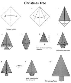 ~Christmas tree origami.                     Dover Publications