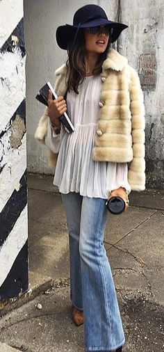 Go boho for Fall in fur and flares