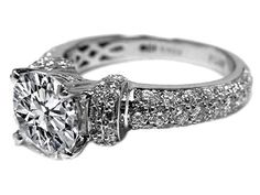 Vintage Style Diamond Engagement Ring 1.17 tcw.