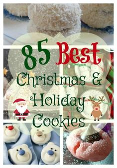 85 Best Christmas and Holiday Cookie Recipes. You'll find traditional favorites, cookies for special diet plans, and cookie recipes from around the world to add to your holiday baking list. Holiday cookies are wonderful for sharing. Best Holiday Cookies, Holiday Cookie Recipes, Xmas Cookies, Yummy Cookies, Holiday Desserts, Candy Recipes, Holiday Baking, Holiday Treats, Baking Cookies