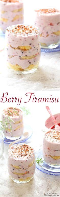 BERRY TIRAMISU - AN EASY KID FRIENDLY DESSERT - HAPPY&HARRIED. #happyandharried #berry #tiramisu #recipe #dessert #valentines #day