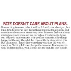 Fate has a plan :-) I just need to stop messing with it. Ggrrrr