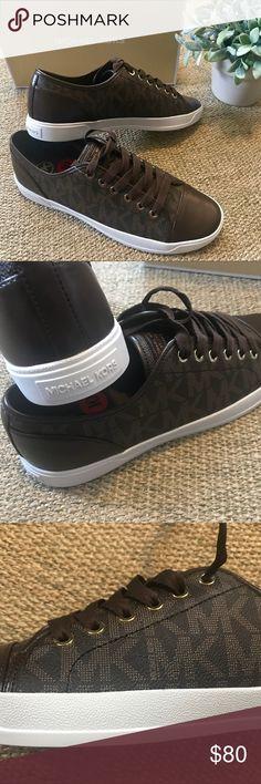 c0118f7ba84b5 Michael Kors MK City Sneaker Signature Brown BRAND NEW AUTHENTIC Michael  Kors City Sneakers beautifully featuring
