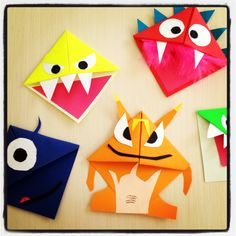 Jamie and Vicky's Monster Bookmarks