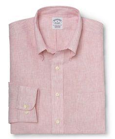 Brooks Brothers - Pink Extra-Slim Fit Irish Linen Sport Shirt