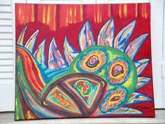 Πίνακας σε καμβά με ακρυλικά χρώματα