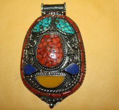 Nepalese Tibetan Handmade Lapis Coral Turquoise by goldenlines