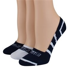 Sperry Top-Sider Women's Socks Signature Stripes No Show Navy/White