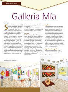 Galleria Mia #MiddleSchool #ArtLesson #ArtEd