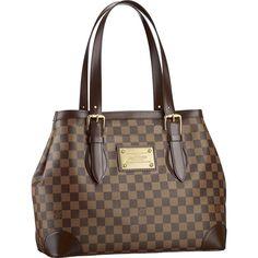 ac0302cde7ea Louis Vuitton Damier Ebene Canvas Hampstead MM N51204 Size 13.6