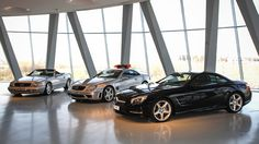 R129SL (left), R230 (middle), R231 (right) @ Mercedes Benz Museum in Stuttgart, Germany.