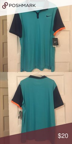 Nike Tennis Polo Never been worn! Turquoise Nike Tennis Polo. XL. Dri-fit Nike Shirts Polos