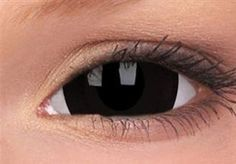 Black Titan Mini Sclera Coloured Contact Lenses (1 Year)