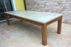 Terrassentisch Mit Tischplatte Aus Beton   Bauanleitung Zum Selberbauen    1 2 Do.