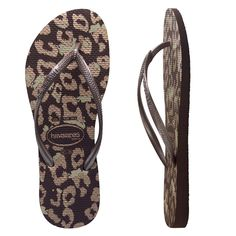 bec7cc68e150 Havaianas Slim Animal Dark Brown. Release your inner animal with chocolate  Havaianas with a gold