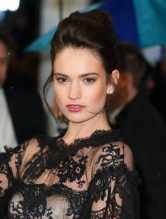 Lily James. LOVE HER SO MUCH! She is so beautiful and such a good role model!