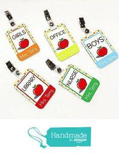 Teacher Hall passes, Colorful with Polka Dots Hall Passes, Red Apple Themed from kasefazem https://www.amazon.com/dp/B01BKUF2OM/ref=hnd_sw_r_pi_awdo_p68MxbX5BWTYJ #handmadeatamazon