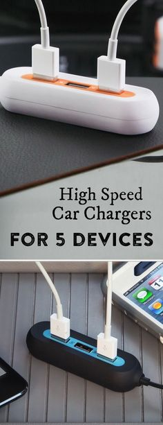 No need to fight over the car charger. RapidX charges 5 different devices at once—at twice the speed of most other chargers.