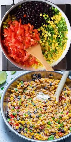 This Mexican Street Corn Salad is Creamy, has a bold flavor to it and very easy to make. It is the perfect side dish recipe that you can enjoy with any meal. A great addition to your table when you are entertaining and can be served warm or cold. Healthy Chicken Dinner, Vegetarian Recipes Dinner, Easy Dinner Recipes, Dinner Healthy, Breakfast Healthy, Dinner Ideas, Plats Healthy, Mexican Street Corn Salad, Corn Salad Recipes