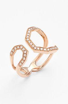 Women's Dana Rebecca Designs Diamond Geometric Ring - Rose Gold