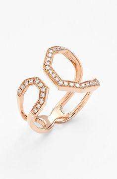Women's Dana Rebecca Designs Diamond Geometric Ring - Rose Gold