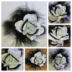 Frankly Scarlett I don't give a damn- Vivien Leigh inspired white flower with black feathers White Roses, White Flowers, Vivien Leigh, Derby Day, Black Feathers, Black And White, Creative, Melbourne, Inspiration