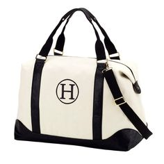 9df8512891 Black Canvas Overnight Weekender Bag with Included Personalization Monogram  or Name Travel Tote