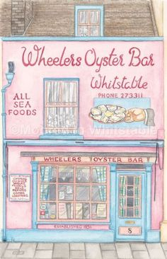 Wheelers Oyster Bar, Whitstable-----Moored In Whitstable - Fine Art and Painting Dealer in Chestfield, Whitstable (UK)