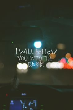 If it only said ill follow you into the past like the song from the great gatsby
