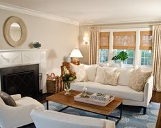 Curtain Over Shades Is Ceiling High Living Room Blinds