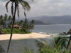 Beautiful beach in São Tomé e Principé West Africa