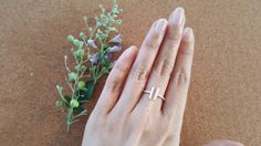 Two Bars Open Ring  Parallel Bar Ring  Sterling by Happinesssilver