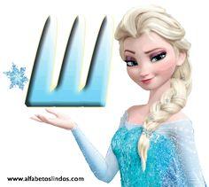 Alfabetos Lindos: Alfabeto Frozen da Disney em gif letras frozen Elsa gelo