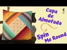 Capa de Almofada Spin Me Round - YouTube Spin Me, Crochet Coat, Couture, Spinning, Quilt Patterns, Patches, Scrap, Throw Pillows, Quilts
