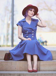 Retro Style, Retro Fashion, Vintage Style, 50s, 40s, Retro Look, Vintage Lovers, purple hair,  Fashion, Retro Dress