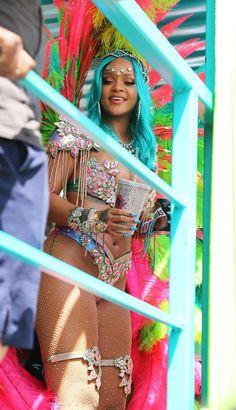 August 7: Rihanna at Barbados' 2017 Crop Over Festival///pinterest:badgalririiii
