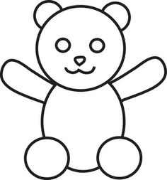 Free Bear Clip Art Image: clip art illustration of a teddy bear in black and white