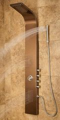 Pulse 1033 Oil Rubbed Bronze Santa Cruz GPM Shower Panel with Rain Shower Head, Single Function Hand Shower and 2 Body Sprays
