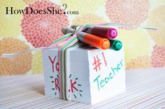 Teacher gift idea: DIY instructions for creating a notepad