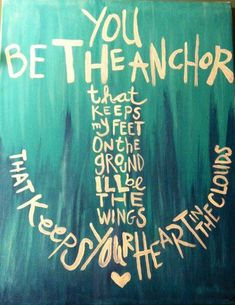 He's my anchor xox