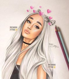 Ariana Grande's 10 Best Collaborations: Critic's Picks – Celebrities Woman Ariana Grande Drawings, Ariana Grande Wallpaper, Tumblr Drawings, Girly Drawings, Horse Drawings, Girly M, Celebrity Drawings, Art Girl, Art Sketches