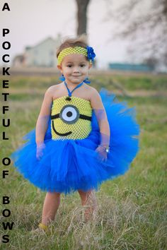 Hey, I found this really awesome Etsy listing at https://www.etsy.com/listing/178619891/minion-tutu-dress-couture-toddler-minion