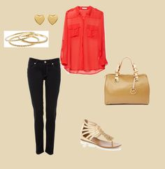 Casual date, created by cheergirl-abby on Polyvore