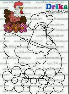 Todo para Crear ... : varios costura Quilt Block Patterns, Applique Patterns, Quilt Blocks, Scrap Fabric Projects, Fabric Scraps, Sewing Projects, Chicken Crafts, Chicken Art, Patch Quilt